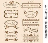 set of decorative frame... | Shutterstock .eps vector #88234879