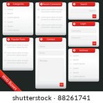 web blog boxes   a collection... | Shutterstock .eps vector #88261741