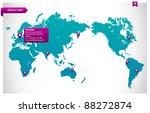 world map module for web   easy ... | Shutterstock .eps vector #88272874