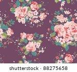 seamless vintage rose pattern   Shutterstock . vector #88275658