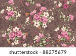seamless wallpaper vintage rose ...   Shutterstock . vector #88275679