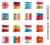 vector flags icon set. europe ... | Shutterstock .eps vector #88283053