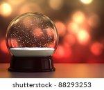 3d Render Of Empty Snow Globe