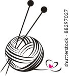 Yarn Ball With Needles Isolate...