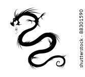 dragon tattoo vector... | Shutterstock .eps vector #88301590