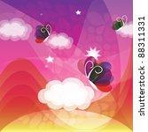 background sweet dreams | Shutterstock .eps vector #88311331