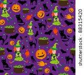 halloween pattern | Shutterstock .eps vector #88315420