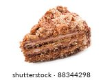 piece of chocolate cake with... | Shutterstock . vector #88344298