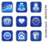 services icons and mobile phone ...