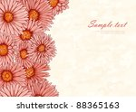 stylish background with hand... | Shutterstock .eps vector #88365163