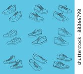sneakers  vector illustration | Shutterstock .eps vector #88366798