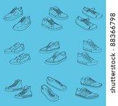 sneakers  vector illustration   Shutterstock .eps vector #88366798