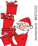 santa with huge pile of... | Shutterstock .eps vector #88371232
