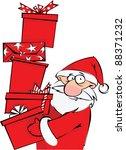 santa with huge pile of... | Shutterstock .eps vector #88371232