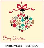 christmas decoration made from... | Shutterstock .eps vector #88371322