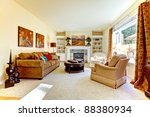yellow and elegant living with...   Shutterstock . vector #88380934