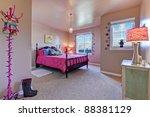 beautiful large kids beige... | Shutterstock . vector #88381129
