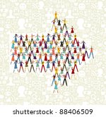 taked by hands people group in... | Shutterstock .eps vector #88406509