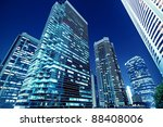 tall office buildings by night | Shutterstock . vector #88408006