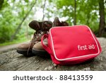First Aid Kit And Hiking Boots...