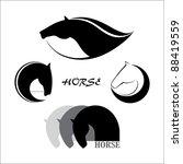 Stock vector horse symbol vector 88419559