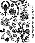 floral ornament elements... | Shutterstock . vector #88428571