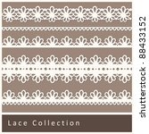cute collection of lace. vector ...