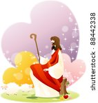 happy christian | Shutterstock .eps vector #88442338