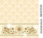 vector vintage floral ...   Shutterstock .eps vector #88455334