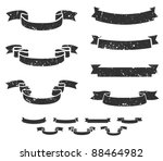 set of distressed grunge scroll ... | Shutterstock .eps vector #88464982