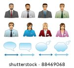 set of business people icons | Shutterstock .eps vector #88469068