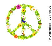 Peace Symbol  Isolated On Whit...
