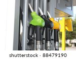 gasoline hoses on the petrol...   Shutterstock . vector #88479190