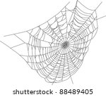 illustration with spider web... | Shutterstock .eps vector #88489405