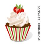 Cupcake With Strawberry...