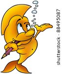 fish painter   cartoon...   Shutterstock . vector #88495087
