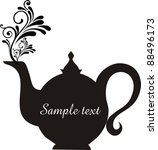 teapot with floral design... | Shutterstock .eps vector #88496173