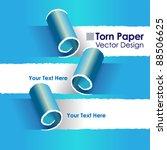 torn paper layout design vector ...   Shutterstock .eps vector #88506625