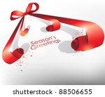 dynamic festive ribbon vector... | Shutterstock .eps vector #88506655