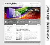 gray website template 960 grid. | Shutterstock .eps vector #88515034