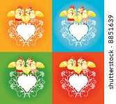 vector design with heart and... | Shutterstock .eps vector #8851639