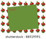 christmas tree cupcake   text... | Shutterstock . vector #88519591