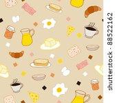 breakfast seamless pattern   Shutterstock .eps vector #88522162