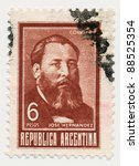 argentina   circa 1967  a stamp ... | Shutterstock . vector #88525354