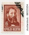 argentina   circa 1967  a stamp ... | Shutterstock . vector #88525354