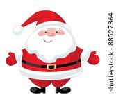 smiling cartoon santa claus... | Shutterstock .eps vector #88527364