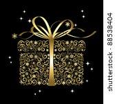 stylized gift   vector | Shutterstock .eps vector #88538404