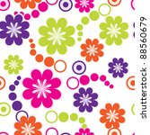 abstract floral background | Shutterstock .eps vector #88560679