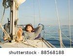 man sailing | Shutterstock . vector #88568188