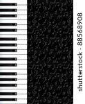 Abstract Background With Piano...